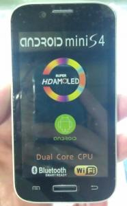 China 4.5 smart phone  Mini S4, android 4.1 OS, 2GMSslot, with Bluetooth, GPS, MP3, Ebook on sale