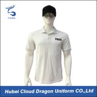 White color Customized Security Guard T Shirts For Men , Embroidery / Badge Logo