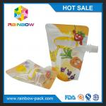 Recycled PET / NY / PE Stand Up Bags Gravure Printing For Liquid