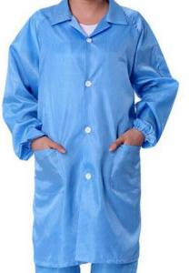 China Safety ESD Anti Static Clean Room Garments For Optical Production Workshop on sale