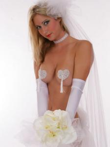 China White Breathable Satin Personalised Bridal Underwear with Sequins on sale