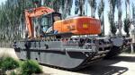 Amphibious Pontoons for 18--24 Ton Excavator , Model: MAX200PU
