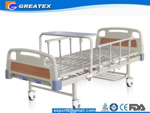 China GT-BM5205 Manual 2 Crank Hospital Bed Simple Flat adjustable medical bed on sale