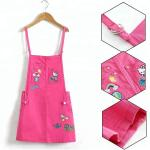 Stretchable Waist Summer Peach Overalls Skirts Sleeveless For 8-16 Years Girls