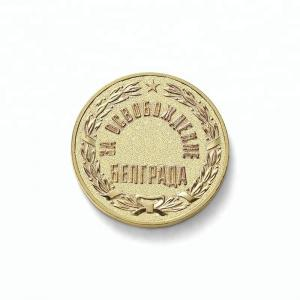 China Embossed Logo Custom Metal Coins Custom Pocket Token For Keychain on sale