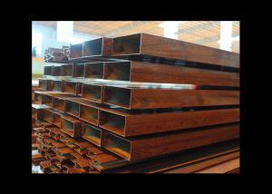 China Wooden Coating Hollow Aluminum Tube Rectangle Shape Custom For Decoration on sale