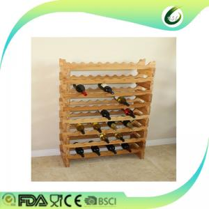 China 2017 bamboo wood wine holder creative rack for kitchen on sale