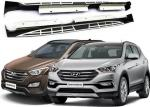 OE Style Side Step Boards with Alloy Brackets for Hyundai Santafe 2013 2016 IX45