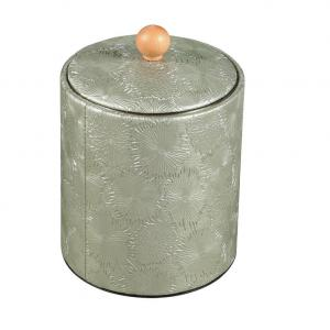 China Leather Stainless steel small ice bucket box on sale