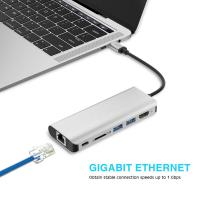 China New Products 2018 Usb Ethernet Adapter Hub For Macbook Pro Usb C Hub Thunderbolt 3 Usb-C Adapter on sale