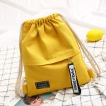 Korean drawstring, rucksack, women's bag, trend, mori ladies backpack, ribbon, minimalist student bag