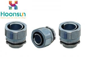 China DPJ100 Flexible Conduit Connector Metal Hose End Style Straight Joint Connector IP65 on sale