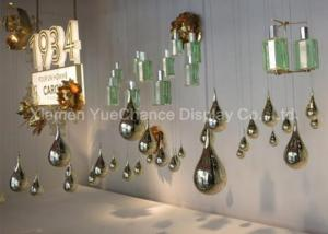 China Electroplated Item Mirror Silver Fiberglass Water Drop Statues Customized Decorations on sale