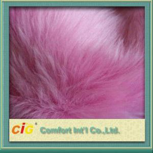 China Pink Toys 800g / m Faux Fox Fur Fabric For Garment And Funiture on sale