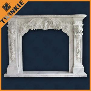 China White Marble Fireplace Mantel Surround , Antique Classic French Style on sale