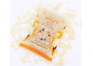 China New Arrival 1 Bag Honey Flavor Depilatory Hard Wax Hair Removal Bikini Hair Removal Wax Bean on sale