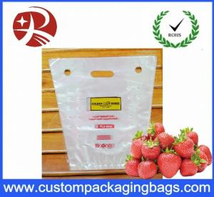 China PP Portable Fruit Packing Bag With Perforation And Hanger Hole on sale