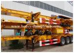 China Deck commercial flatbed trailers 40ft flat for transport containers , bulk cargo with warranty wholesale
