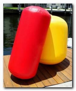 China Multi Color Inflatable Boat Accessories Compressed - Air PVC Large Boat Fenders on sale