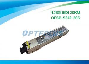 China Network Fiber SFP Optical Transceivers Telecom Communication 1.25G Bi-Di 20km SC on sale
