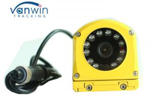 China Yellow Metal Waterproof CCTV Surveillance Camera CCD 700TVL Side View For Bus / Truck on sale
