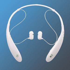 China White Sports Neckband Bluetooth Headphones / CE over the head headphone on sale
