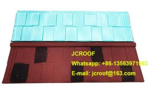 China Industrial corrugated roofing sheets Heat insulation blue shingle / classic / bond on sale