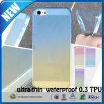 Caso feito sob encomenda matte transparente à prova de choque do telemóvel do iphone 5s da borracha TPU