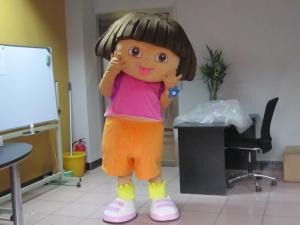 Quality 子供の女の子のマンガのキャラクタのDoraのマスコットの衣裳 for sale