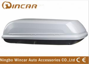 China Single Open Black Car Roof Boxes in ABS Material 380L Capacity , 3mm ABS board on sale