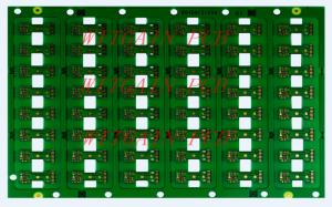 China Green Color 4 Layer PCB / 4 Layer Board 0.4MM Thickness High Efficiency on sale