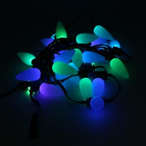 China PVC SMD5050 RGB String Lights Frosted Bulb Style 16 Bit Mini LED String Lights on sale