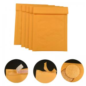 China #000 4x8 Secure self-seal Golden Yellow Kraft Bubble Padded Mailers for shipping mailing supplies on sale