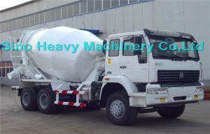 China Sinotruk SWZ 340hp Concrete Mixer Trucks 10cbm , Manual Truck Mixer on sale