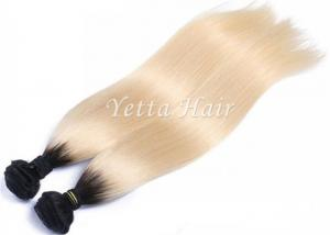 China Soft Smooth Colorful Ombre Hair Extensions , 12 - 30 Inch Straight Remy Hair Weave on sale
