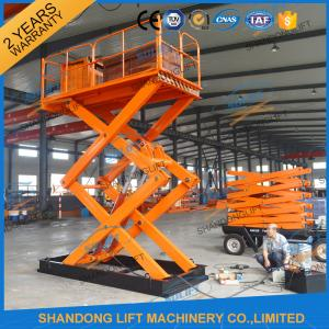 China 3T 5M Scissor Cargo Lift Hydraulic Scissor Lift Table With Safety Control Box CE on sale