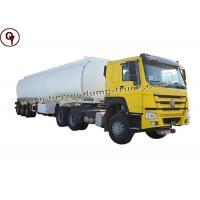 ISO SGS 6 Axle Fuel Tank Truck Oil Tanker Truck Maximum Speed 85 Km / H