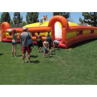 Yellow / Red Outdoor Inflatable Games Inflatable Soft Mountain For Kids Racing