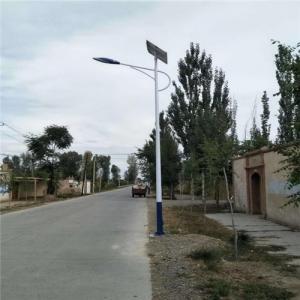 China Solar Panle Charge Battery garden use 30w 40w 60w 80w white Energy-saving solar power led street light on sale