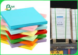 China FSC Yellow / Blue / Green Colored Offset Printing Paper For Stickey Notes 80gsm 120gsm on sale