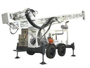China XD-5T Trailer Mounted Hydraulic Driven Drilling Rig on sale