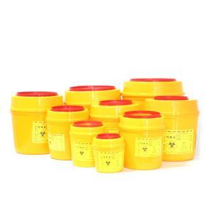 China Medical waste needle Swing lid storage box disposable sharps box biochemical box for hospital on sale