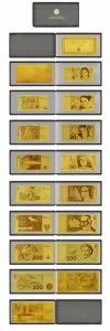 China Full Set Germany 24k Gold Banknote Come With Leather Wallet Home Decoration on sale