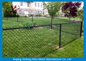 China Black Galvanized Chain Link Fence / Pvc Coated Welded Wire Fencing on sale