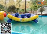 China Float Jumping Pool Inflatable Toys Triple Lines Water Seesaw Equipment wholesale