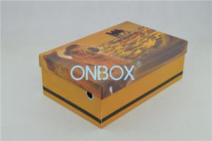 China Gift Custom Printed Corrugated Boxes Biodegradable For Shoes on sale