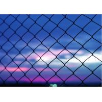 Heavy Duty 5 Green Vinyl Chain Link Fence With 2 Inch Aperture 3 FT Tall