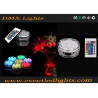 China Remote Controlled Submersible Led Light Base / Waterproof Led Bases For Vases on sale