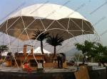Aluminium Frame Geodesic Dome Tent Easy Set Up White And Transparent PVC Cover