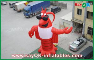China Advertising Red Inflatable Animal Giant Lobster Inflatable Model 2 Years Warranty on sale